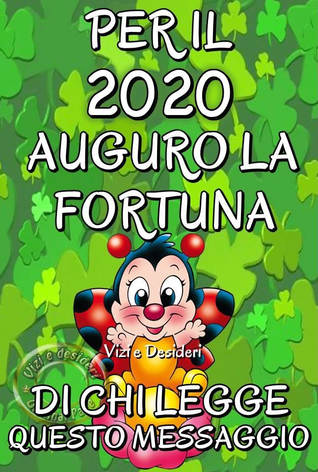 Per il 2020 auguro la fortuna di chi...