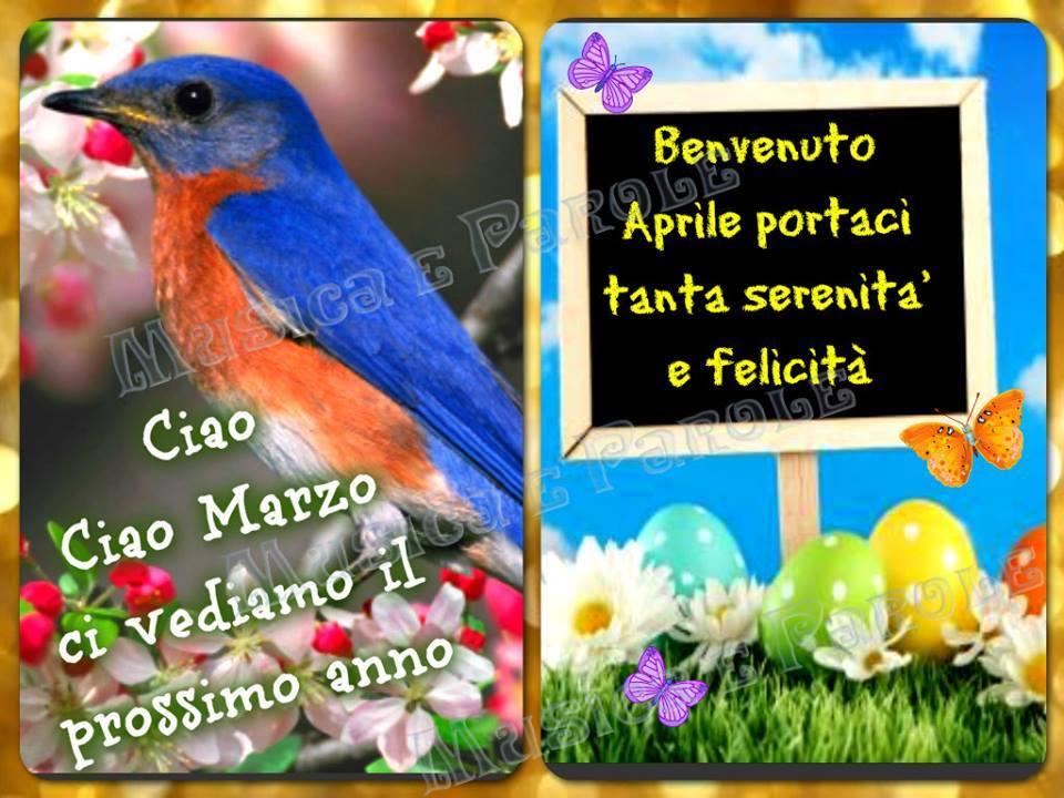 Ciao Marzo, Benvenuto Aprile