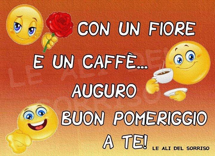 spesso Con un fiore e un caffè Auguro Buon Pomeriggio a te! immagine  WC46
