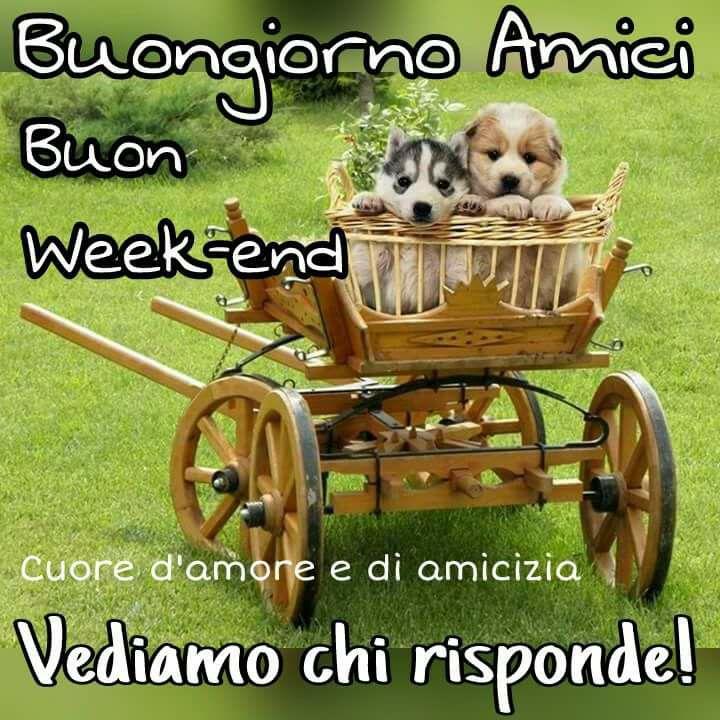 Buongiorno Amici, Buon Week-end