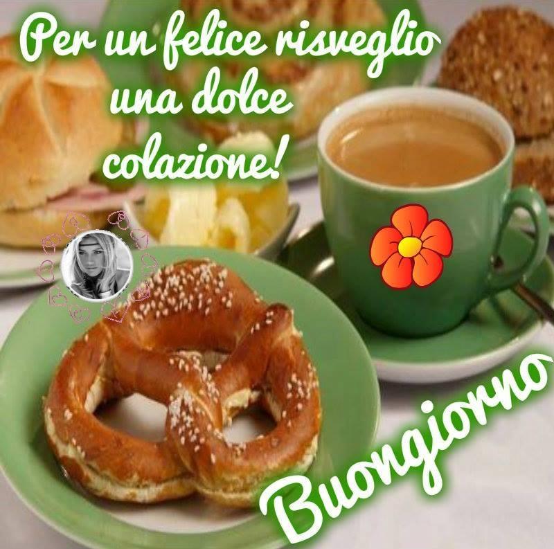 Per un felice risveglio una dolce colazione! Buongiorno