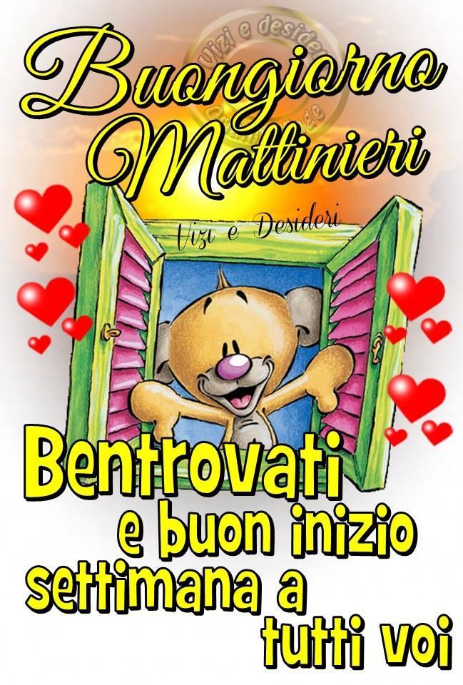 Buongiorno Mattinieri. Bentrovati e buon inizio settimana a tutti voi.