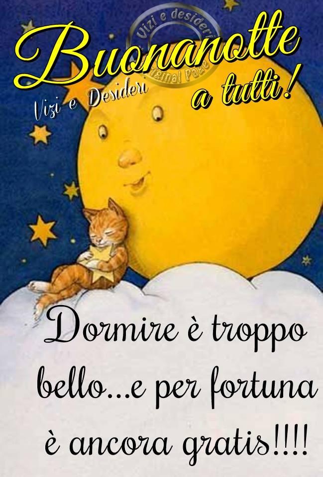Buonanotte a tutti! Dormire...