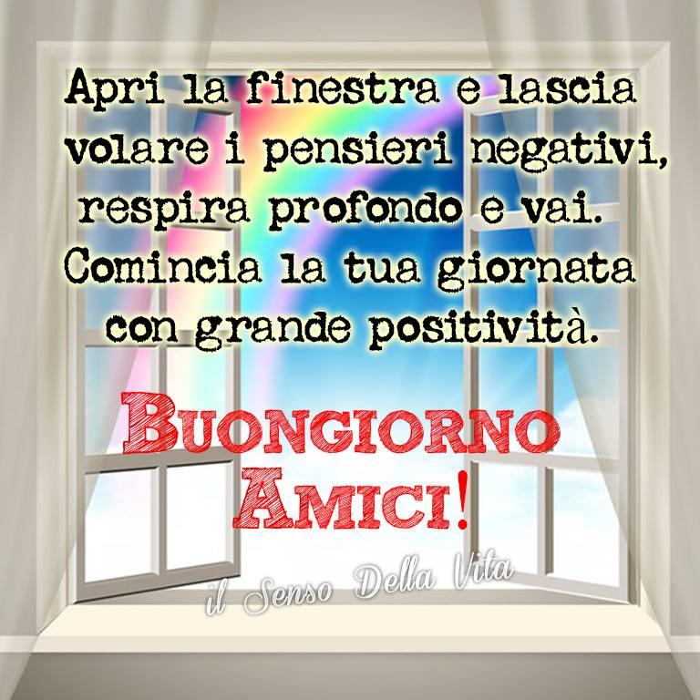 Apri la finestra e lascia volare i pensieri negativi...