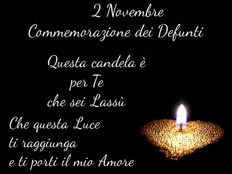 2 Novembre - Commemorazione dei Defunti