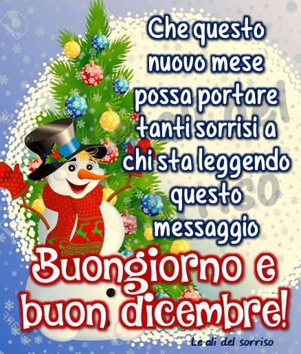 Buongiorno e buon dicembre!