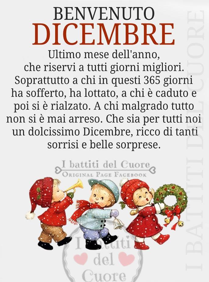 Benvenuto Dicembre. Ultimo mese...