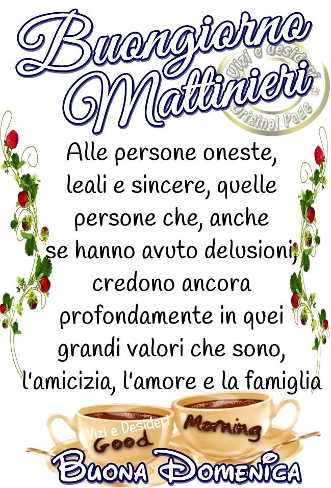 Buongiorno Mattinieri, Buona Domenica