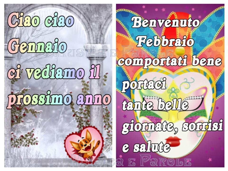 Ciao ciao Gennaio, Benvenuto Febbraio