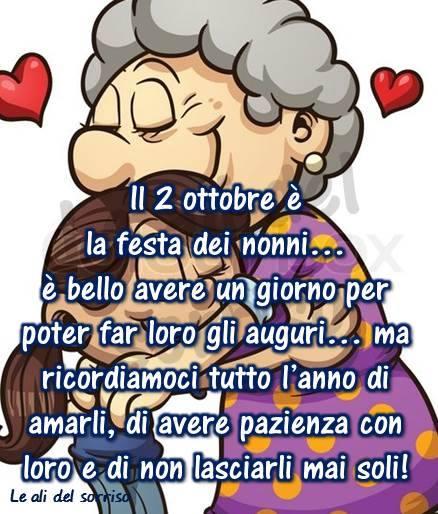 Il 2 ottobre è la festa dei nonni...