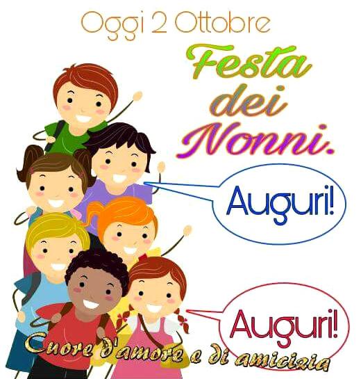 Oggi 2 Ottobre Festa dei Nonni