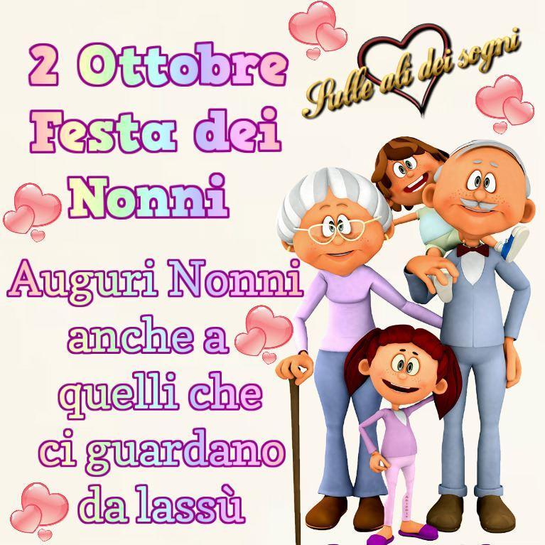 2 Ottobre - Festa dei Nonni Auguri Nonni...