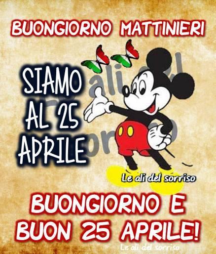 Buongiorno e Buon 25 Aprile!