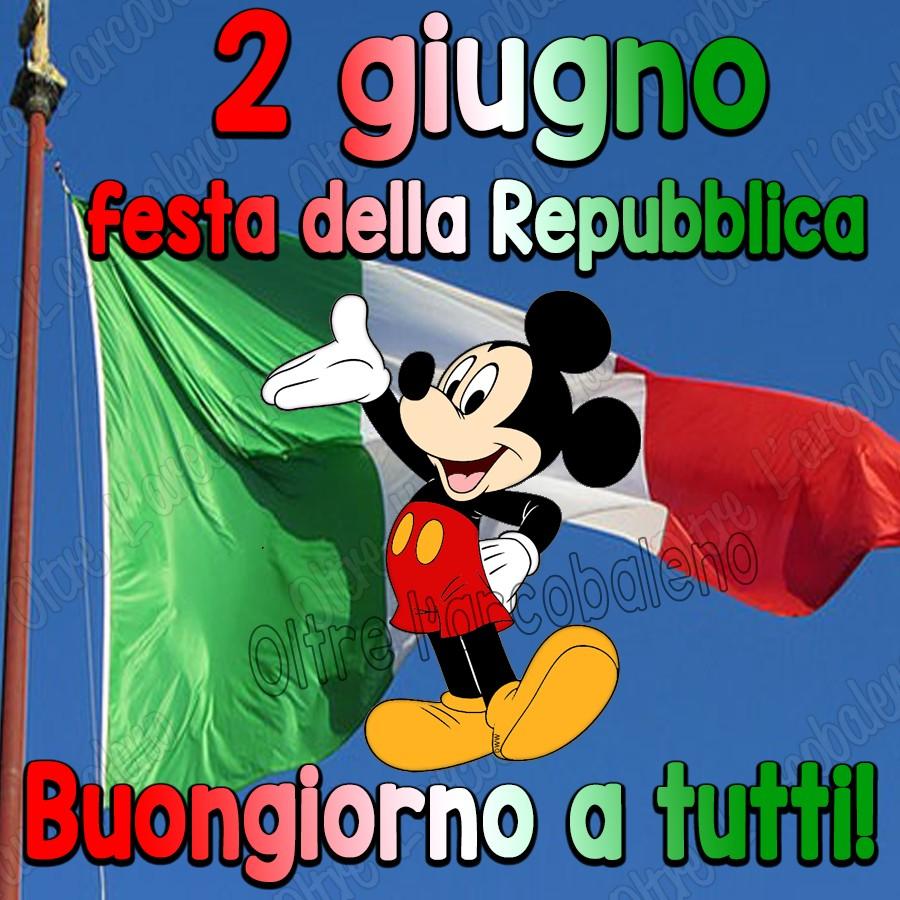 2 giugno, festa della Repubblica, Buongiorno a tutti!