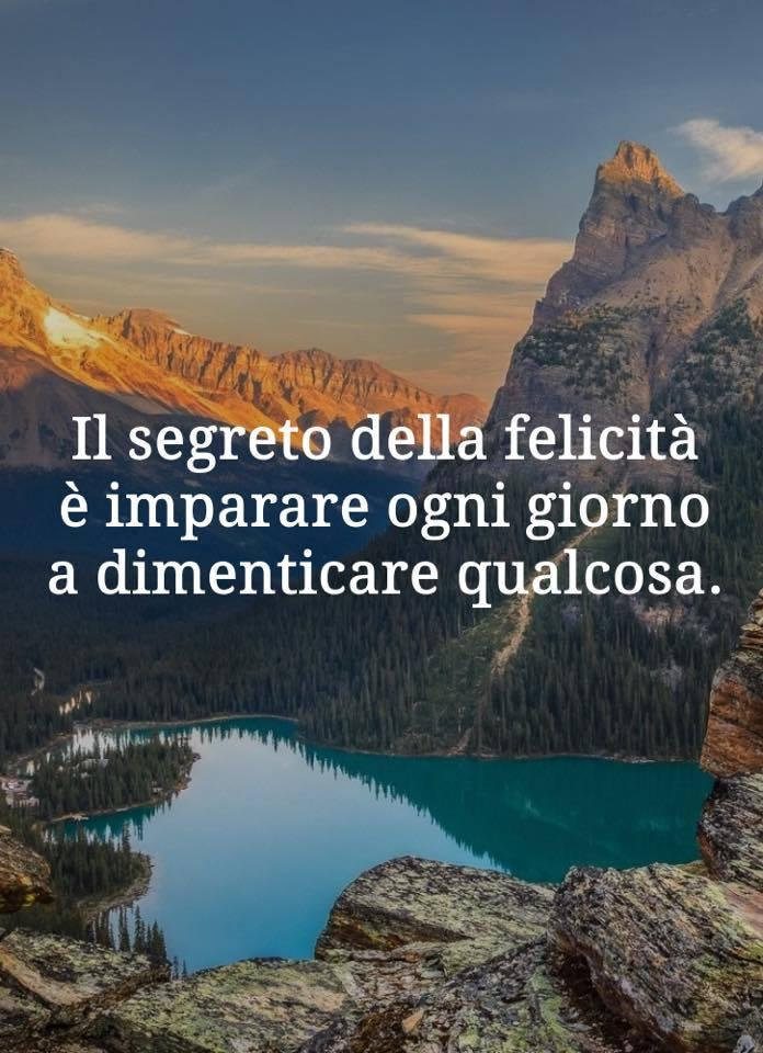 Il segreto della felicità è imparare...