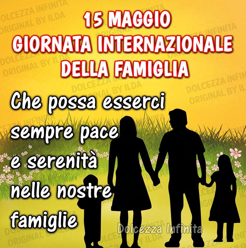 15 maggio, Giornata internazionale della...