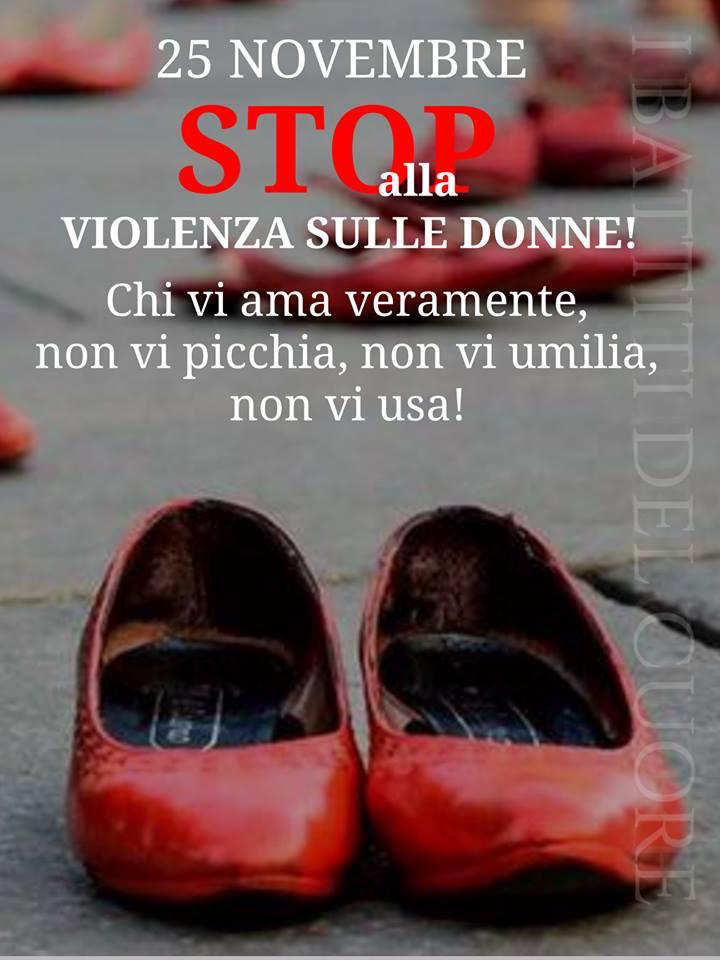 25 Novembre. STOP alla violenza sulle donne!