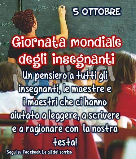 5 Ottobre - Giornata Mondiale degli Insegnanti