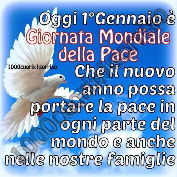 Oggi 1º Gennaio è Giornata Mondiale della Pace