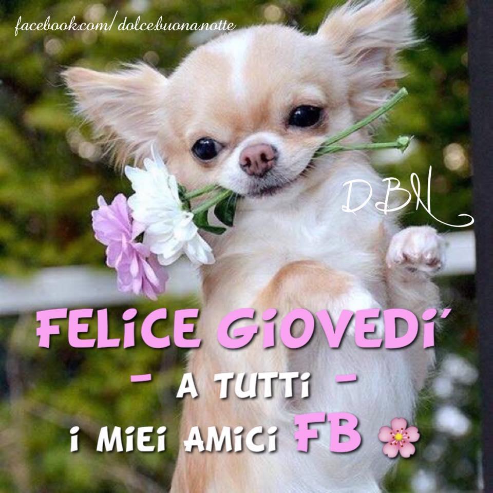 Felice Giovedì a tutti i miei amici FB