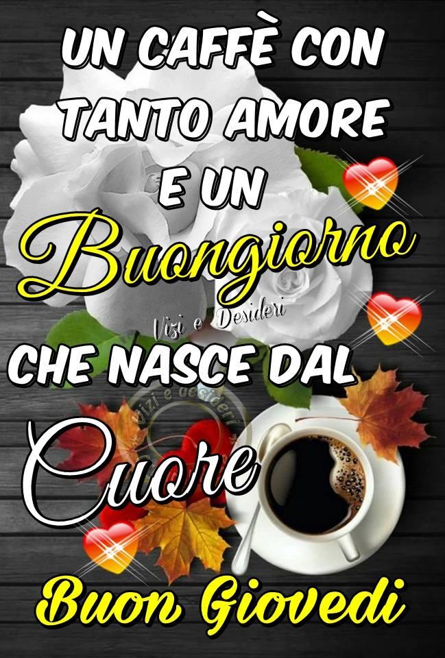 Un caffè con tanto amore e un buongiorno...