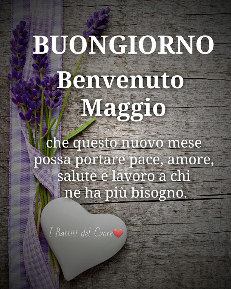 Buongiorno, Benvenuto Maggio