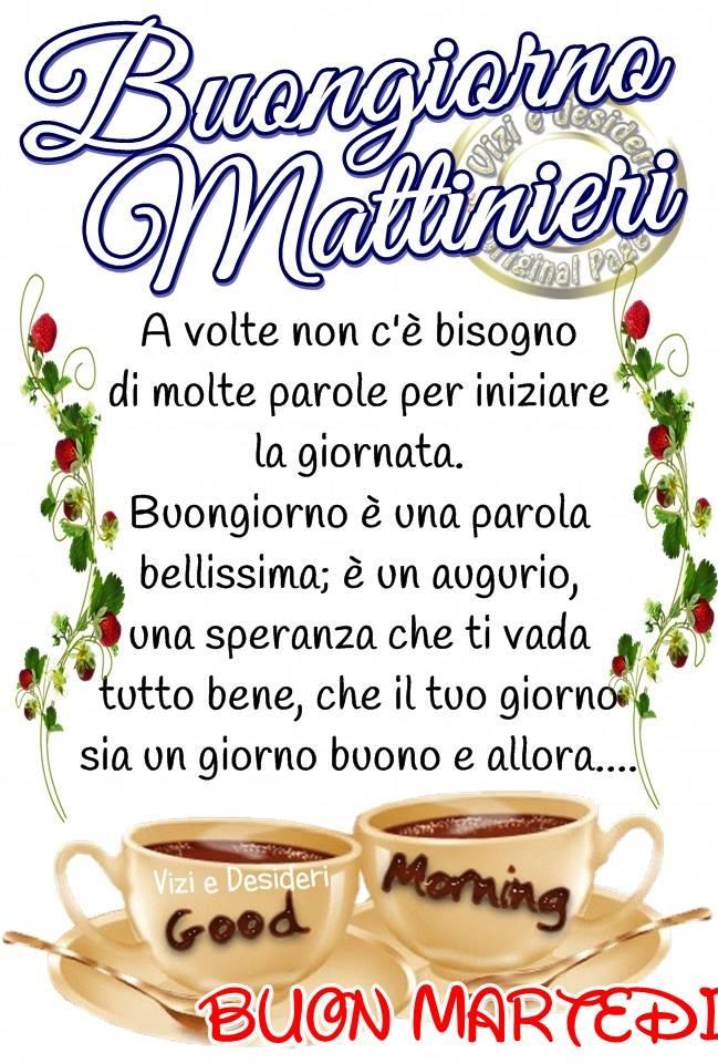 Buongiorno Mattinieri, Buon Martedì