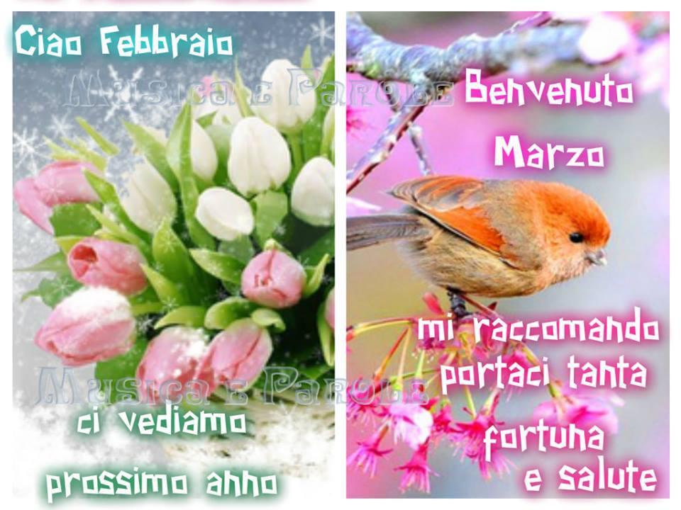 Ciao Febbraio, Benvenuto Marzo