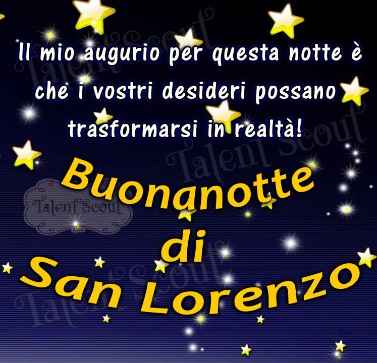 Buonanotte di San Lorenzo