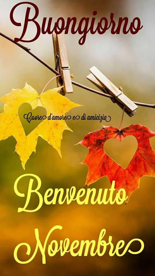 Buongiorno, Benvenuto Novembre