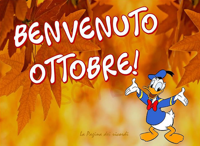 Benvenuto Ottobre!