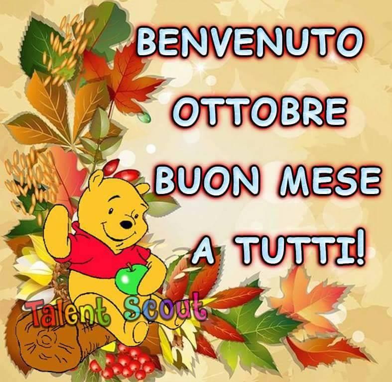 Benvenuto Ottobre, Buon Mese a tutti!
