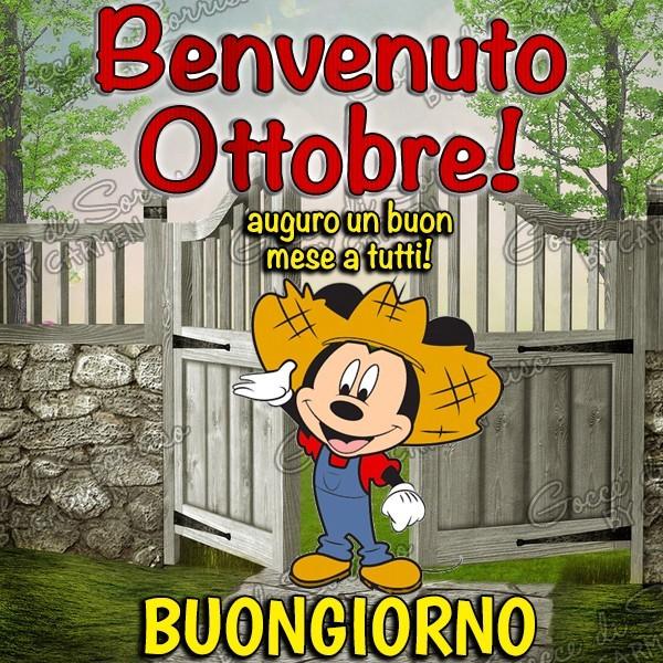 Benvenuto Ottobre! Buongiorno