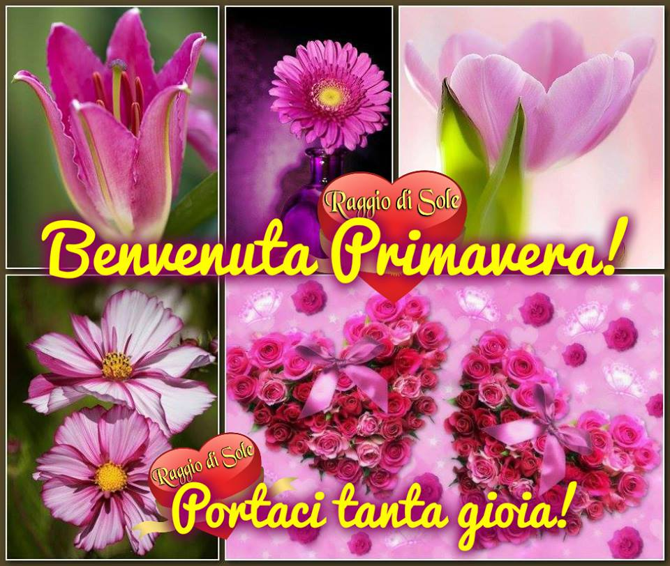 Benvenuta Primavera! Portaci tanta gioia!