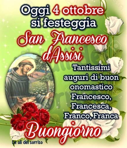 Oggi 4 ottobre si festeggia San Francesco d'Assisi