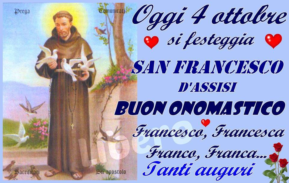 Buon Onomastico Franceso, Francesca, Franco, Franca...