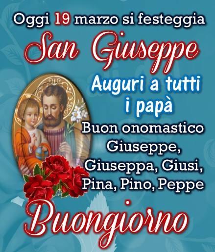 Oggi 19 marzo si festeggia San Giuseppe