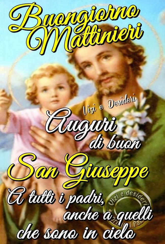Auguri di buon San Giuseppe a tutti i padri...
