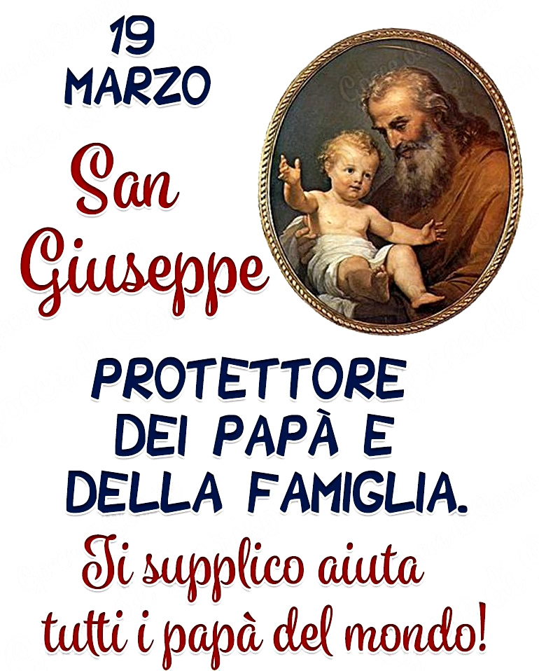 19 marzo - San Giuseppe