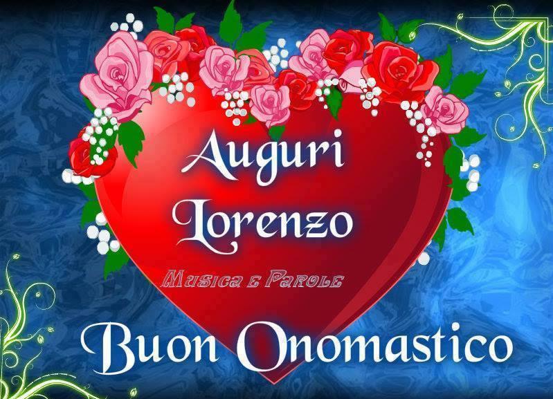 Auguri Lorenzo Buon Onomastico