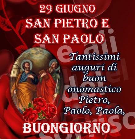 29 giugno - San Pietro e San Paolo