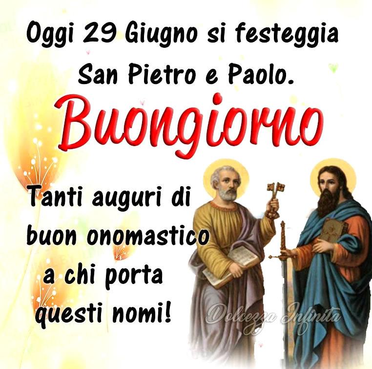 gi 29 Giugno si festeggia San Pietro e...