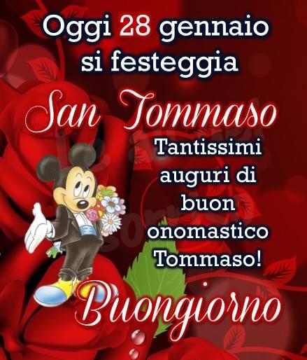 Oggi 28 gennaio si festeggia San Tommaso Tantissimi auguri di buon onomastico Tommaso! Buongiorno