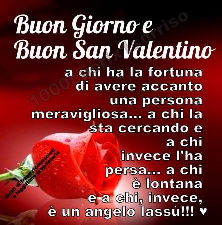 Buon Giorno e Buon San Valentino