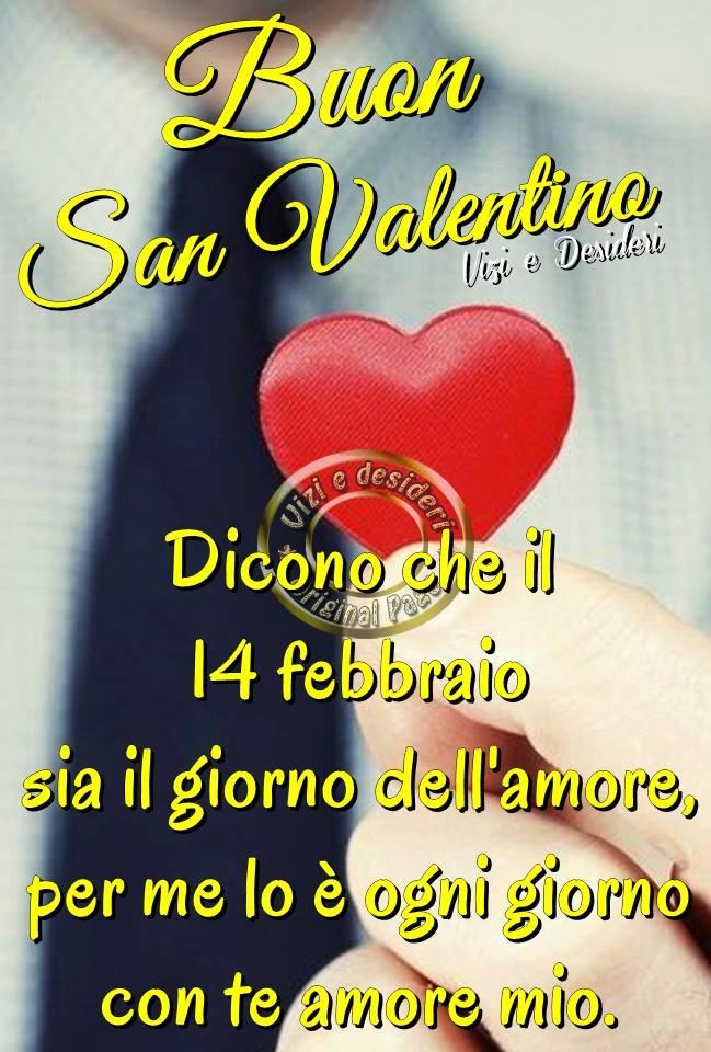 Buon San Valentino. Dicono che il 14 febbraio sia il giorno dell'amore...