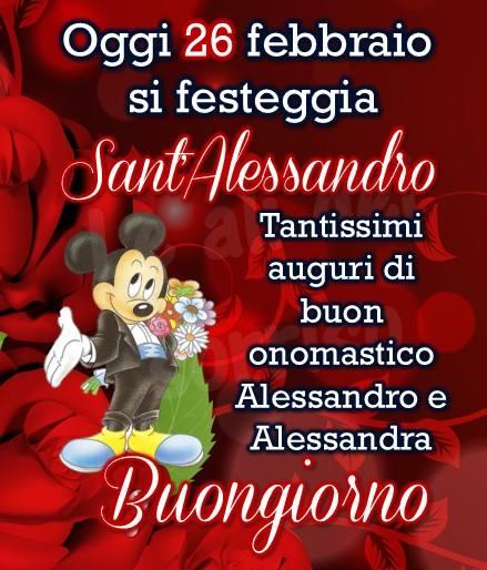 Oggi 26 febbraio si festeggia Sant'Alessandro