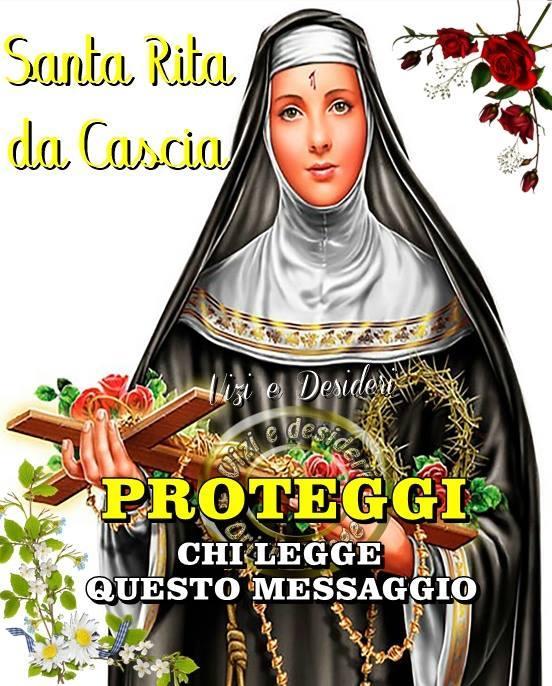 Santa Rita da Cascia Proteggi chi legge...