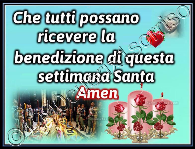 Che tutti possano ricevere la benedizione di questa settimana Santa, Amen
