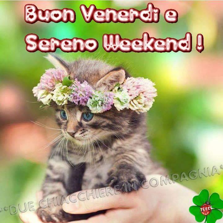 Buon Venerdi e Sereno Weekend !
