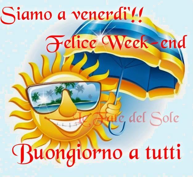 Siamo a venerdì!! Felice week-end...